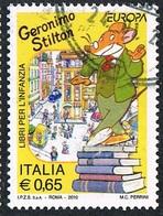 2010 - ITALIA / ITALY - EUROPA CEPT - LIBRI PER L'INFANZIA - GERONIMO STILTON / EUROPE CEPT - BOOKS FOR BOYS /. USATO - Europa-CEPT