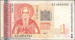 TWN - BULGARIA 114 - 1 Lev 1999 Prefix АЗ AXF - Bulgaria