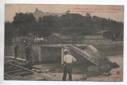 SAINT PERAY (07) - INONDATIONS DE 8 OCTOBRE 1907 - PONT DE LA BEYLESSE EMPORTE VOIE FERREE ENDOMMAGEE - Saint Péray