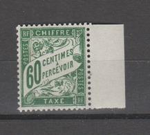 FRANCE / 1893 - 1935 / Y&T Taxe N° 38 ** : Duval 60c Vert - Gomme D'origine Intacte - Taxes
