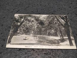 ANTIQUE PHOTO POSTCARD PORTUGAL - BRAGA - BOM JESUS DO MONTE - PISCINA DE NATAÇÃO CIRCULATED 1918 - Braga