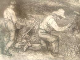 """Courbet Gustave Eau Forte """"les Tailleurs De Pierre"""" - Lithographies"""
