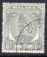 Malaya Selangor 1949-55 Sultan Alam Shah Definitives 6c Value, Used, SG 95 - Selangor