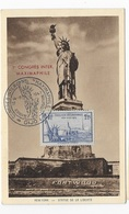 Carte Maximum 1947Statue De La Liberté - 1940-49