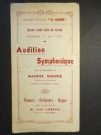 Le Havre - Eglise Saint - Léon Du Havre - Programme - Orgue -Orchestre -  Marcel Dupré - Maurice Duruflé - 1946 - - Programs