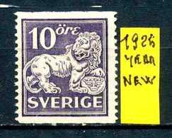 SVEZIA - SVERIGE - Year 1925 - Nuovo - New - Fraiche - Frisch - MNH**. - Svezia