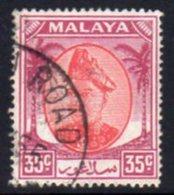 Malaya Selangor 1949-55 Sultan Alam Shah Definitives 35c Value, Used, SG 105 - Selangor