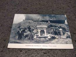 ANTIQUE POSTCARD PORTUGAL - THERMAS DE CALDELLAS - ALMINHAS - PONTE ROMANA CIRCULATED 1910'S - Braga
