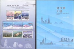 China Hong Kong 2018 HK-Zhuhai-Macao Bridge/Pack With Special MS Joint Issue With China Mainland & Macao - Ongebruikt