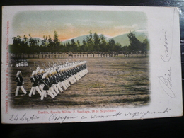Cile Desfile Militar Santiago Used 1906 To Italy- Little Imperfections - Chile