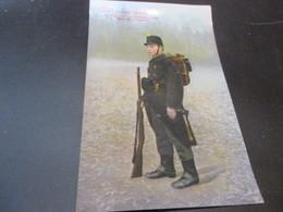 Armee Belge,1ste Regiment Des Chasseurs A Pied, Tenue De Campagne - Uniformes