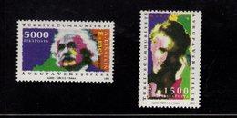 667442512 TURKEY 1994 POSTFRIS MINT NEVER HINGED POSTFRISCH EINWANDFREI SCOTT 2597 2598 EUROPA EINSTEIN CURIE - 1921-... Repubblica