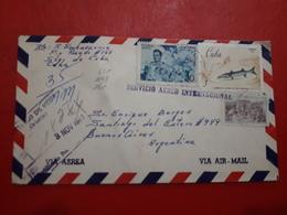 La Cuba Enveloppe Circulé Avec Une Grande Quantité De Timbres 1967 - Cuba