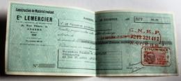Lettre De Change 1938 Angers Entreprise Mercier Transports Tellier Jaunault 69 Rue Saint Aubin Timbre Fiscal 15c - Bills Of Exchange