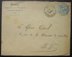 1900 Paris Douane Ingénieur Constructeur 23 Avenue Parmentier - Postmark Collection (Covers)