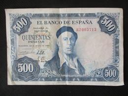 Billet  ESPAGNE  500 PESETAS - [ 3] 1936-1975 : Régence De Franco