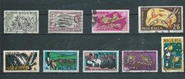 NIGERIA  Yvert   N° 77-83-182-187-281A-284A-287-291A-293B  Oblitérés - Nigeria (1961-...)