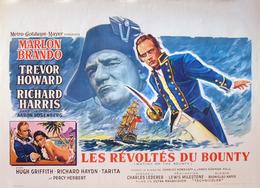 - Révoltés Du Bounty (Les) Affiche Originale De Cinéma Marlon Brando Trevor Howard R Harris - Affiches