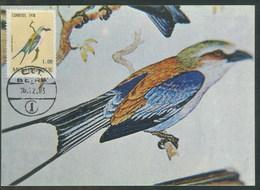 Mozambique Carte Maximum Rollier à Longs Brins Coracias Caudatus Oiseau 1983 Lilac-breasted Roller Maxicard - Mozambique