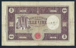 ITALY, BANCA D'ITALIA 1000 1,000 LIRE 1944 PICK # 72a RARE BANKNOTE - [ 1] …-1946: Königreich