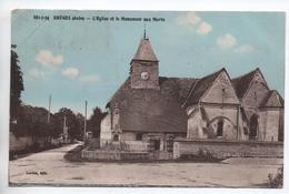 RHEGES (10) - L'EGLISE ET LE MONUMENT AUX MORTS - France
