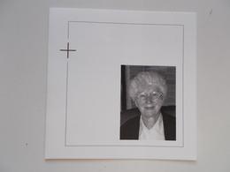 Bidprentje: Klooster-Zuster Josephina VAN OVERSTRAETEN, Mechelen 19/10/1933 - Herselt 19/12/2014 - Obituary Notices