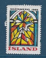 Vignette Islande, Island, 1965 - Vignettes D'affranchissement (Frama)