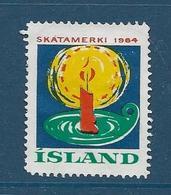 Vignette Islande, Island, 1964, Bougie, Lampe - Vignettes D'affranchissement (Frama)