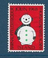 Vignette Islande, Island, 1968, Bonhomme De Neige - Vignettes D'affranchissement (Frama)