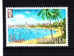Tanganika  -  1961. Baia Di Dar Es Salaam. Palmier,ships.  MNH - Geografia