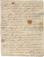 VP13.351 - 52 - Document Généalogique Concernant La Famille GRANDJEAN à MELAY - Manuscripts