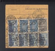 Dt. Reich Paketkarte 1923 Berlin Nach Rüstringen - Deutschland