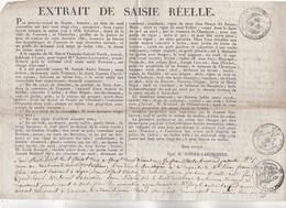 1825 - Règne De Charles X - Extrait De Saisi Réelle De Grande Ampleur à Tournon, Ardèche - Imprimé Et Manuscrit 2 Pages - Decrees & Laws
