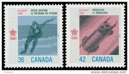 Canada (Scott No.1130-31 - Olympiques D'hiver (Calgary) Winter Olympics) [**] - 1952-.... Règne D'Elizabeth II