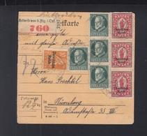 Dt. Reich Paketkarte MiF Mit Bayern Kaltenbrunn - Deutschland