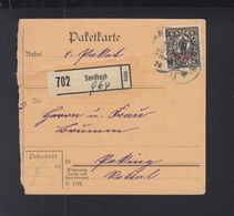 Dt. Reich Paketkarte 1920 Sandbach - Deutschland