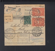 Dt. Reich Paketkarte 1922 Salmünster Nach Memel - Deutschland