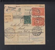 Dt. Reich Paketkarte 1922 Salmünster Nach Memel - Briefe U. Dokumente