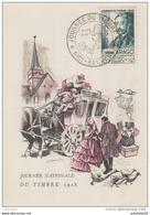 """Algérie /France ; FDC 1948; Carte Maximum """" Journée Du Timbre """" - Algérie (1924-1962)"""