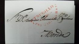 O) 1874 PERU,PRESTAMP-PREPHILATELIC, FROM TRUJILLO -TRUGILLO TO MERIDA SPAIN, XF - Peru