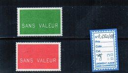 FRANCE - FICTIFS ** N° F250/51 - Fictifs