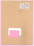 CIAPPA.  Y&T N°849 - 0,10€ Brun + 853 Monde 20 G Violet. Autoadhésifs Sur Lettre. Oblitération Par Griffe à L'arrivée. - 2013-... Marianne Of Ciappa-Kawena