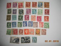LOT DE 39 TIMBRES OBLITERES ANNEE 1930 A 1950 - France