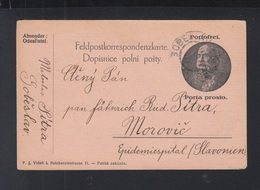 Österreich Feldpost Tschechien Sobeslav 1914 - Cartas