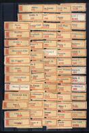 ROMANIA 1955 - 1975  Different  POSTAL LABEL 68 Pcs - Vignettes D'affranchissement (ATM/Frama)