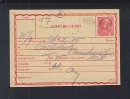 Österreich Telegramm Aufgabeschein Wien - Briefe U. Dokumente