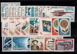 Monaco - Annee Complete 1964 N** YV 636 à 663 Cote 29 Euros - Monaco
