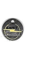 Jeton De Caddie  Argenté  Ville, Automobiles  OPEL  Concéssionnaire  Garage  DAMIAN  à  QUIMPER  ( 29 ) - Trolley Token/Shopping Trolley Chip