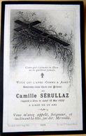 MEMORANDUM  SOUVENIR CAMILLE SERULLAZ  FAIRE PART DECES - Décès