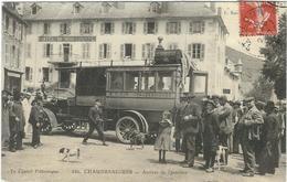 Cantal : Chaudesaigues, Arrivée De L'autobus, Très Belle Carte Animée, Rare... - Andere Gemeenten